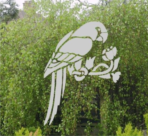 Etched Glass Effect Parrot sticker